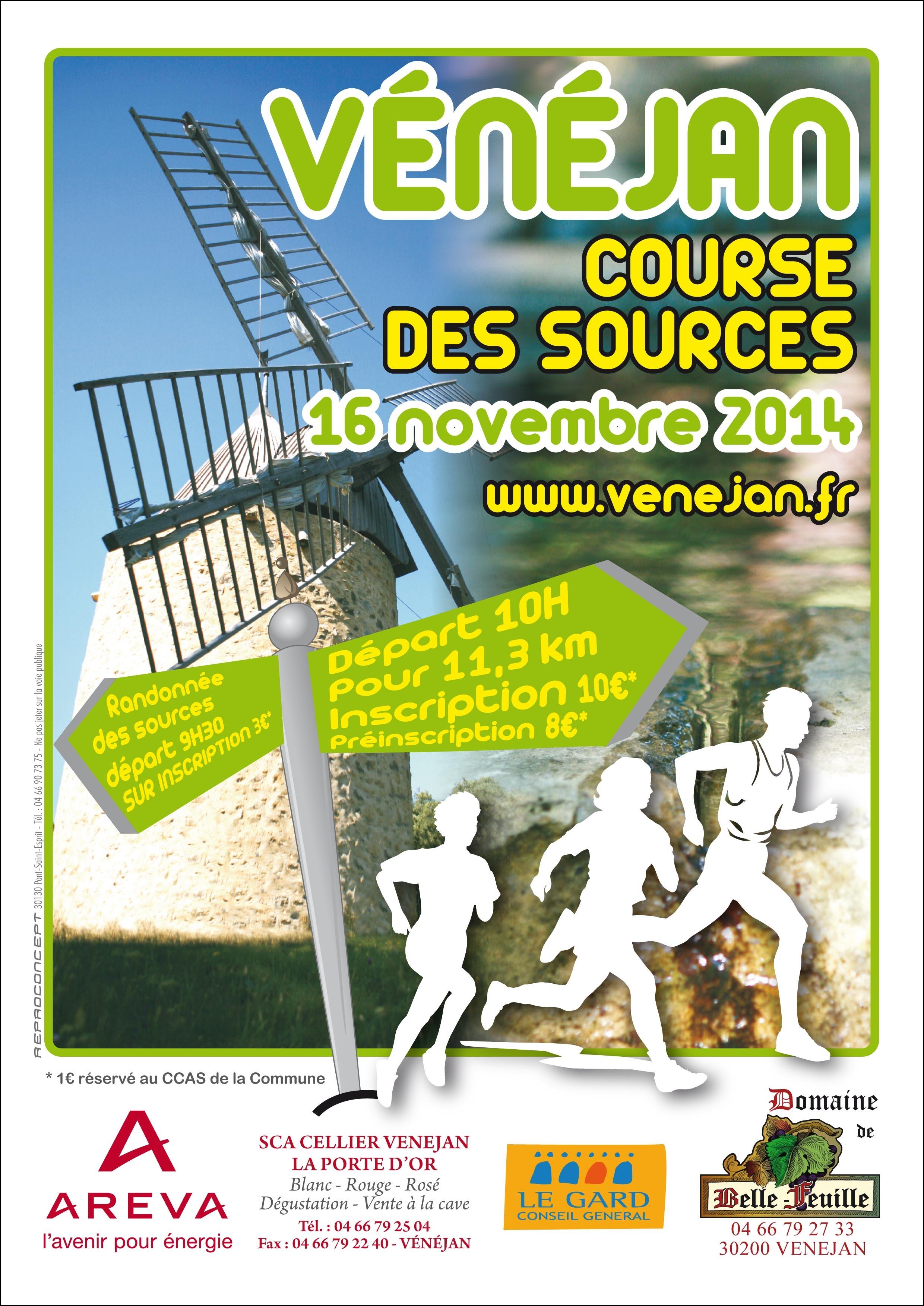 affiche course 16 novembre 2014
